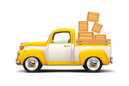 coche retro de dos colores de transporte Ilustración de vector