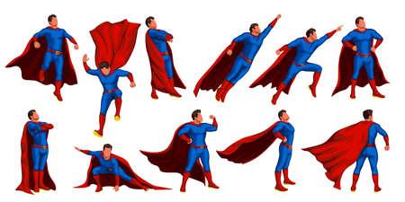 super hero set Vettoriali