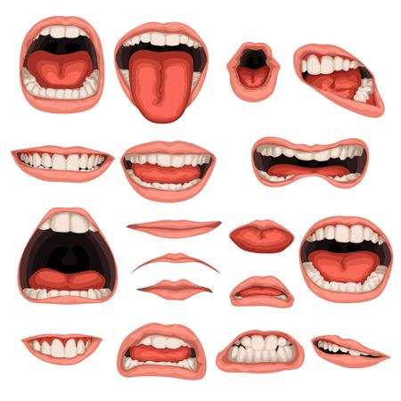 mannelijke mond set