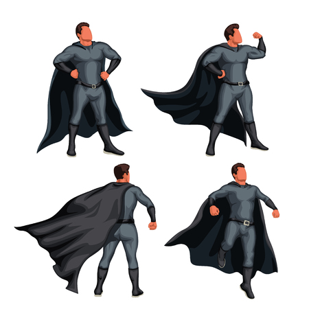 grey color super hero set