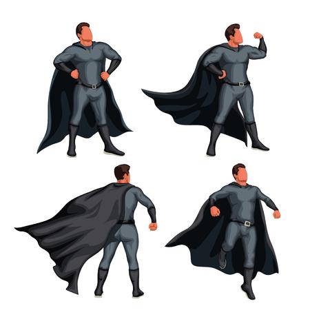 grey color super hero set