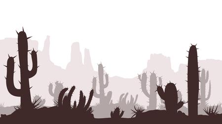 cactus desert image Ilustração