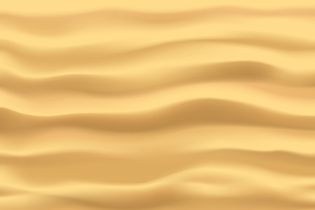 illustration of realistic waves of clean sand view from top background