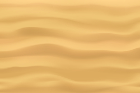 illustration of sand waves on yellow background view from top Ilustração