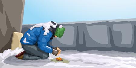 homeless at winter