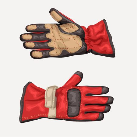 pair racing gloves on white