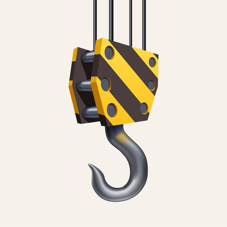 construction hook isolated on white