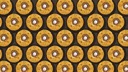 obus de fusil de chasse jaune vue arrière Vecteurs