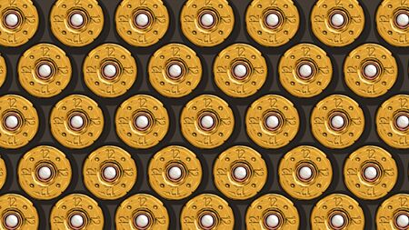 yellow shotgun shells back view