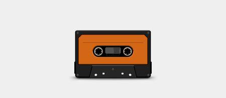 audio tape front orange color