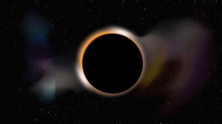 black hole in dark space Иллюстрация
