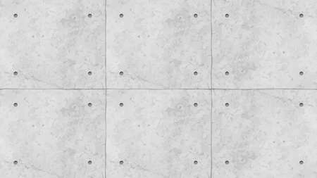 grey color concrete wall panels with holes Ilustracja