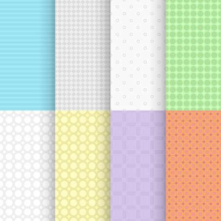 simple vintage seamless patterns backs in set Ilustracja