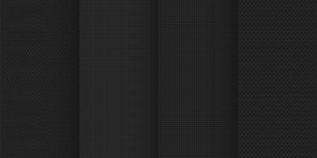 black color calm minimal style seamless pattern