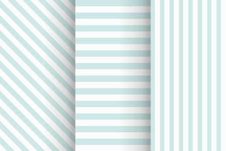 blue color stripes seamless pattern in set
