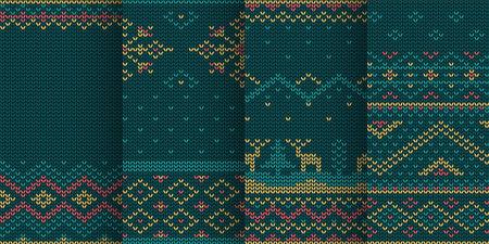christmas theme blue seamless pattern in set Zdjęcie Seryjne