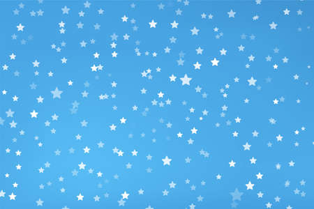 white color stars with shades on blue