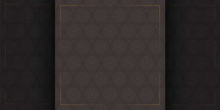 luxury seamless pattern with gold frames template