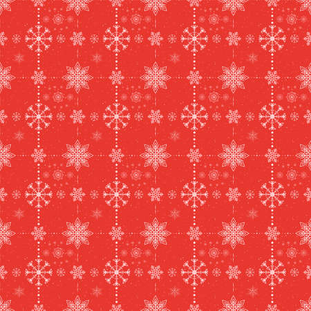 christmas red back with white snowflakes pattern
