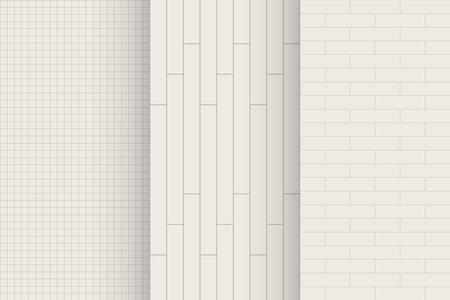 modern white color bathroom ceramic in pattern Ilustracja