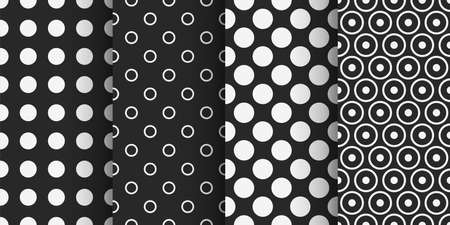 two color dotted seamless patterns in set Ilustracja