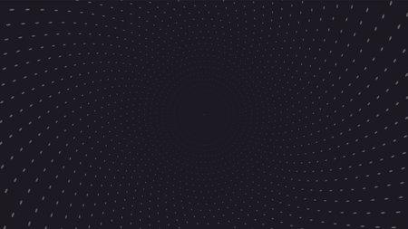 warp surface white dots on black background