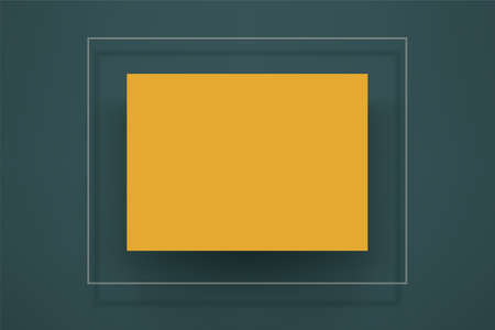 yellow element on green back in 2021 colors Ilustracja
