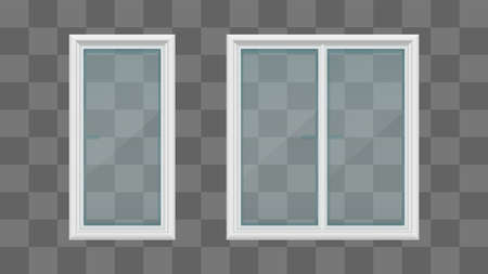 white color windows transparent isolated on gray