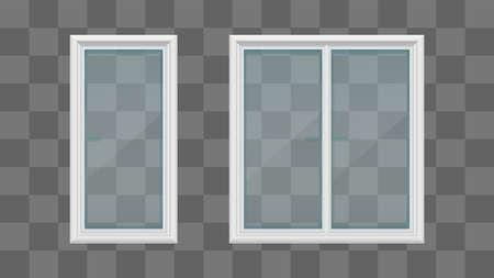 white color windows transparent isolated on gray Zdjęcie Seryjne - 163855080