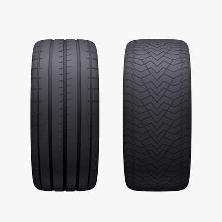 new pair of different season car tires