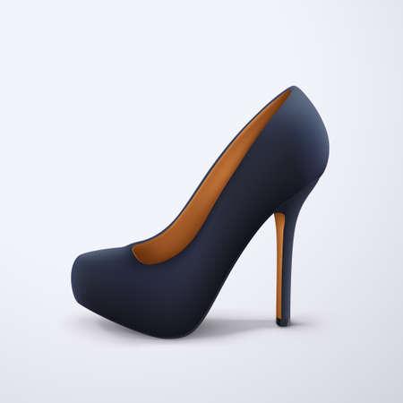 black color womans stylish shoe side view