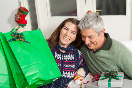 30 35 years: Couple laughing Stock Photo