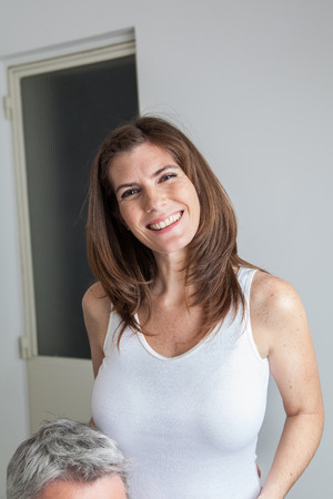 Happy pregnant smiling