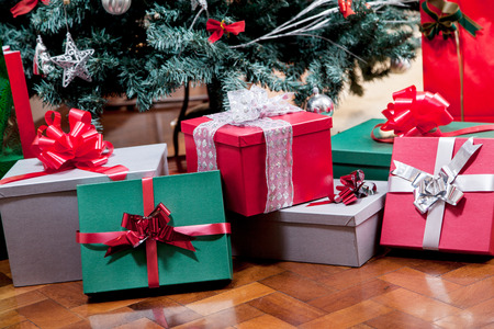 Gifts under the tree photo