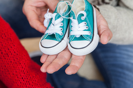 35 40 years old: The litlle shoes Stock Photo