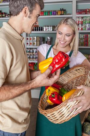 woman s bag: Natural Man buying food