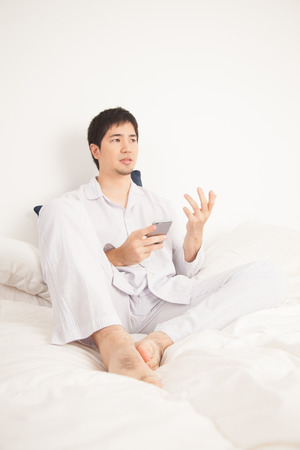 s video: young man Stock Photo