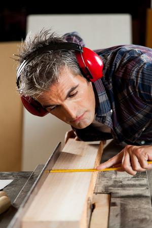 manual measuring instrument: Carpenter working