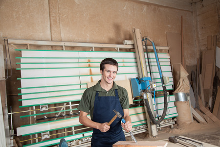 carpenter working Banque d'images