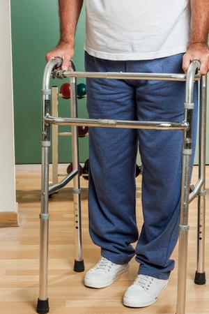 mature people: orthopedic walker