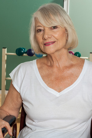 paraplegia: Elderly woman Stock Photo