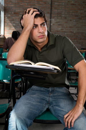 20 to 25 years old: Man worried about the exam