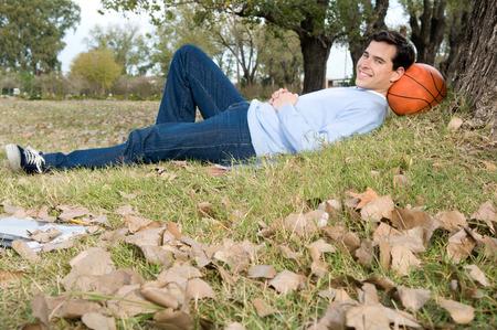 20 25 years old: Man taking a break outside