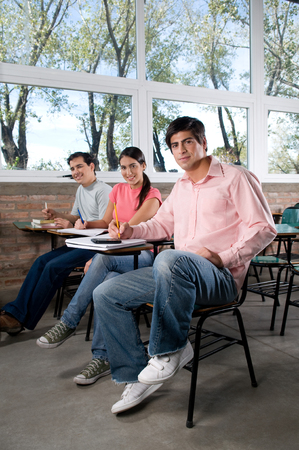 20 to 25 years old: student studying in university Stock Photo