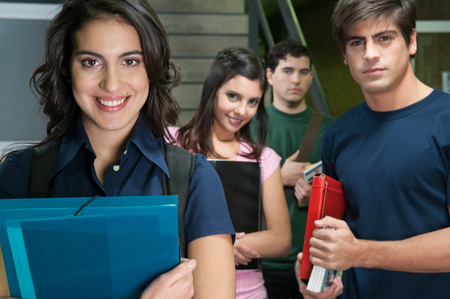 20 25 years old: Students in university Stock Photo