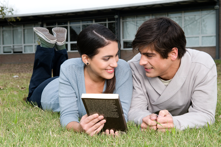 20 year old girl: Couple taking a rest outdoors