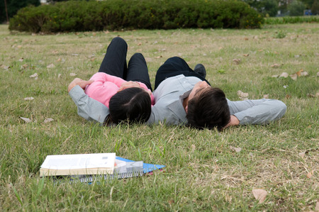 20 to 25 years old: Students taking a rest