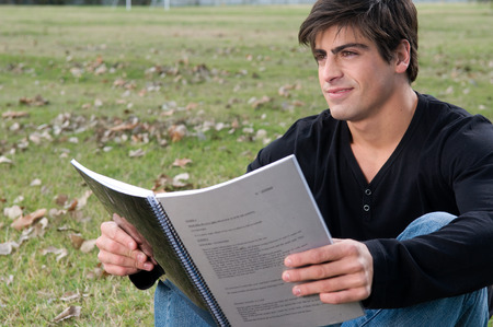 20 to 25 years old: Man reading his