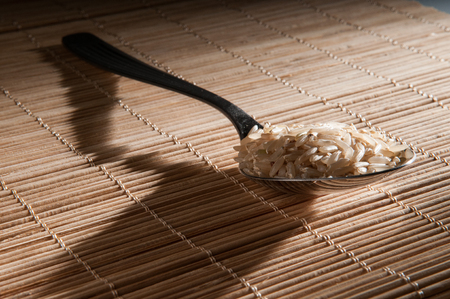 plato del buen comer: cuchara con arroz