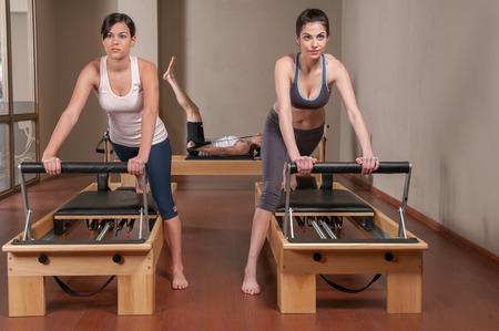 healthier: Two woman doing pilates Stock Photo